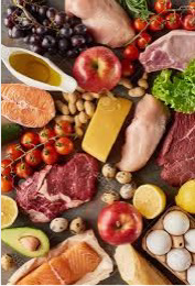 variety of meat and vegetables
